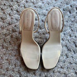ZARA Clear PVC Heels